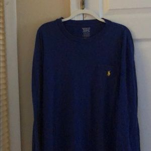 2XLT NAVY LONG SLEEVE T-SHIRT POLO